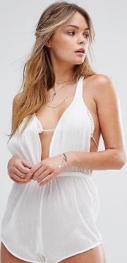 Cheesecloth Beach Playsuit