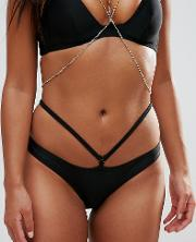 Hipster Bikini Bottom With Removable Chain