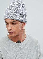 henry ribbed beanie in grey