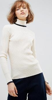 Wood  Irene Merino Wool Turtleneck Jumper