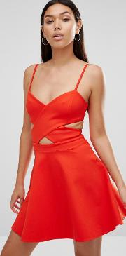 in love cut out skater dress