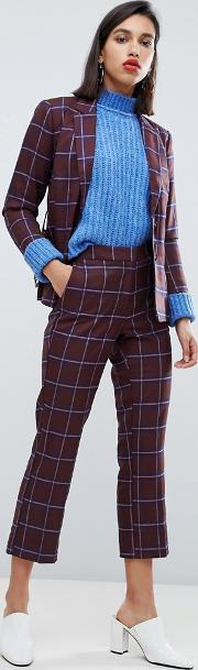Check Crop Trousers Co Ord
