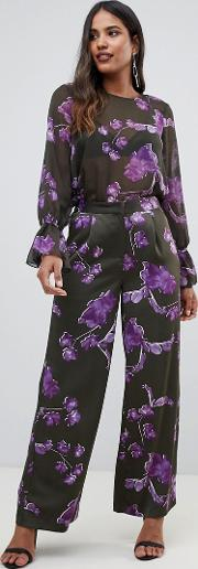 floral high waisted trouser