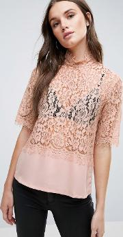 Luna Lace Shell Top