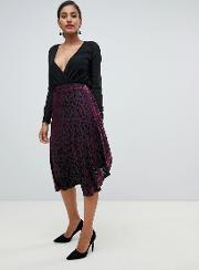 Yas Midi Wrap Skirt