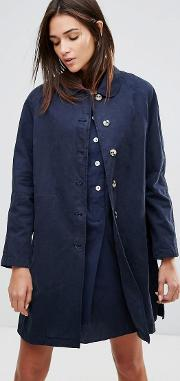 Round Collar Mac Coat