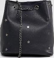 bucket bag with star studs