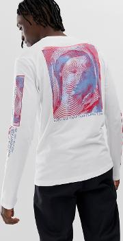 Long Sleeve Top With And Back Print