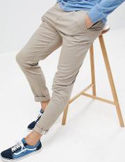 relaxed fit chino  brown