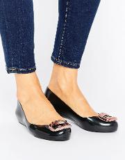 pop charm ballerina pumps