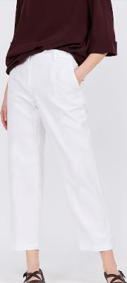 Cotton And Linen Trousers