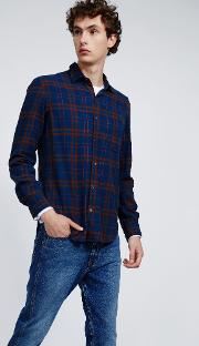 Cotton Flannel Shirt Ridotta Check