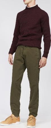 Garment Dyed Cotton Trouser Funzionale
