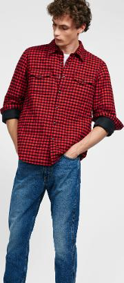 Wool Check Shirt With Thermore Padding