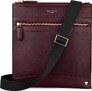 Anderson Small Messenger Bag In Burgundy