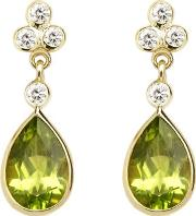 Aphrodite Teardrop Peridot & Diamond Earrings