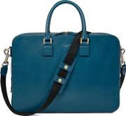 Aspinal Of London Bright Blue And Green Leather Small Mount Street