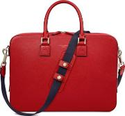Aspinal Of London Scarlet Red Saffiano Small Mount Street