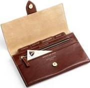 Deluxe Travel Wallet In Smooth Cognac & Stone