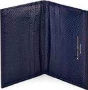 Double Fold Credit Card Case In Midnight Blue