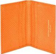 Double Fold Credit Card Case In Orange