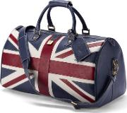 Handmade Brit Blue Travel Bag