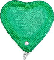 Heart Coin Purse In Green Grass