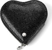 Heart Coin Purse In Jet Black