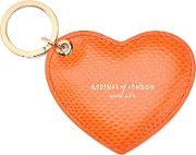 Heart Key Ring In Orange