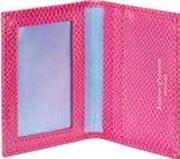 Id And Travel Card Case Raspberry Lizard And