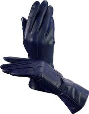 Ladies Blue Soft Leather Gloves
