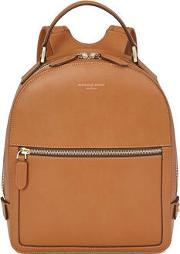 Ladies Luxurious Brown Leather Small Mount Street Backpack