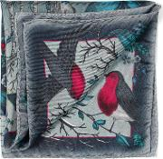 Ladies Robin Silk Scarf 33x33 Midnight