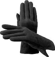 Ladies Sheepskin Lined Suede Gloves