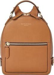 Ladies Stylish Brown Leather Micro Mount Street Backpack