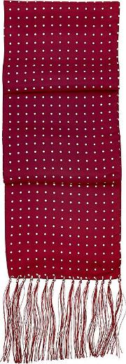 Men's Polka Dot Silk Scarf In