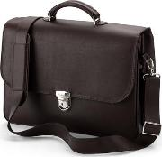 Mens City Pebble Calf Stone Brown Suede Laptop Briefcase