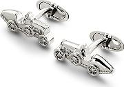 Mens Classic Sterling Silver Car Cufflinks
