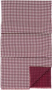 Mens Reversible Wool Spot Scarf