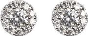 Monaco 1.0ct Diamond Cluster Stud Earrings