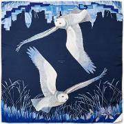 Owl In The City Silk Scarf