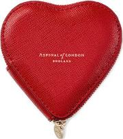 Scarlet Red Saffiano Heart Coin Purse
