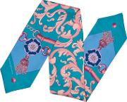 Signature Shield Silk Neck Bow Scarf