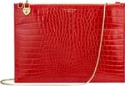 Soho Double Sided Clutch In Deep Shine Red