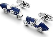 Sterling Silver & Enamel Classic Car Cufflinks In