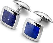 Sterling Silver & Lapis Square Cufflinks