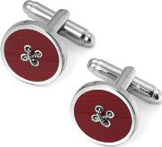 Sterling Silver Plated Button Cufflinks