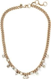 Sparkle Chain Focal Necklace Gold
