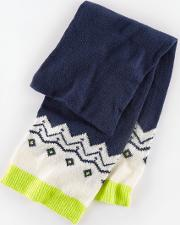 Fair Isle Knitted Scarf Navy Boys Boden