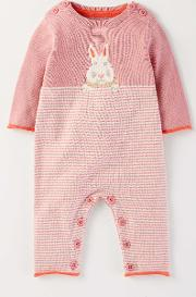 Bunny Knitted Romper Ballet Pink Arctic Bunny  Boden